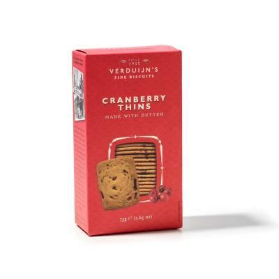 6762 - Verduijn's Fine Biscuits cranberry thins 75 gram