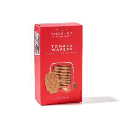 6763 - Verduijn's Fine Biscuits tomaatwafels met basilicum 75 gram