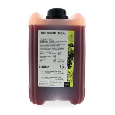 5329 - Wajos crema di frutta rabarber aardbei 5000 ml