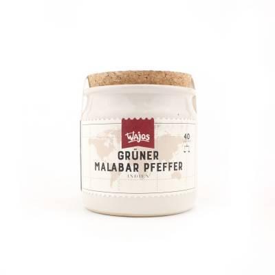 5863 - Wajos groene malabar peper 40 gram