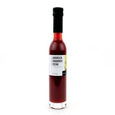5454 - Wajos Aardbei-Rabarber Crema met Vrucht 250 ml
