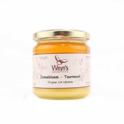 4456 - Weyn's zonnebloem honing vast 500 gram