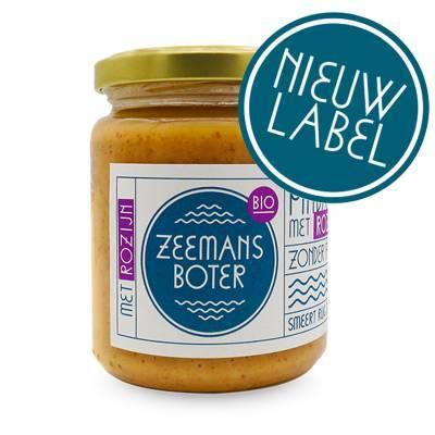 20001 - Zeemansboter pindakaas rozijn 250 gram