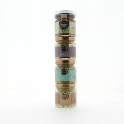 1135 - Voets koker 3x mosterd 1x mosterd-dillesaus 180 ml
