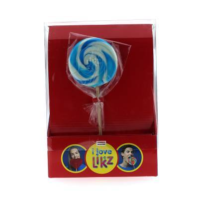 1473 - Spiraallolly Blauw display 17 st. gram