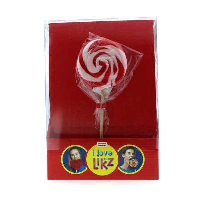 1476 - Spiraallolly Rood Wit display 17 st. gram