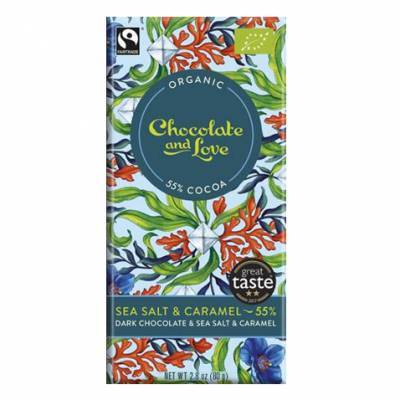 17055 - Chocolate and Love sea salt 55% 40 gram