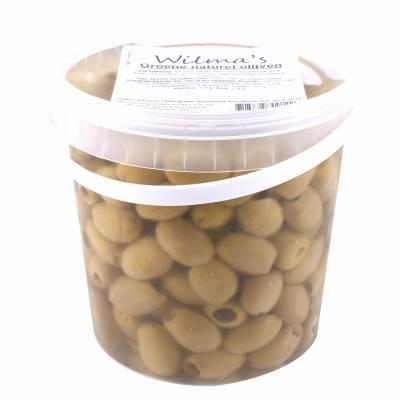 18000 - Wilma's Olijven groene olijven naturel onder olie 1000 gram