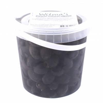 18002 - Wilma's Olijven zwarte olijven naturel onder olie 1000 gram