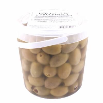 18004 - Wilma's Olijven jumbo olijven naturel onder olie 1000 gram