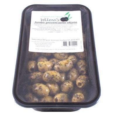18050 - Wilma's Olijven jumbo provencaalse olijven 800 gram