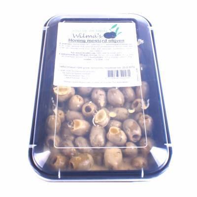 18056 - Wilma's Olijven honing mosterd olijven 1200 gram
