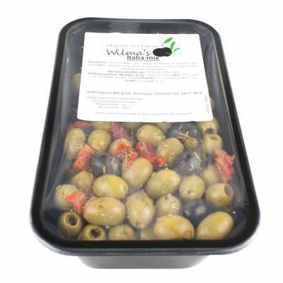 18062 - Wilma's Olijven italia mix 800 gram