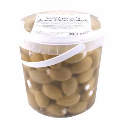 18102 - Wilma's Olijven jumbo roomkaas olijven 1100 gram
