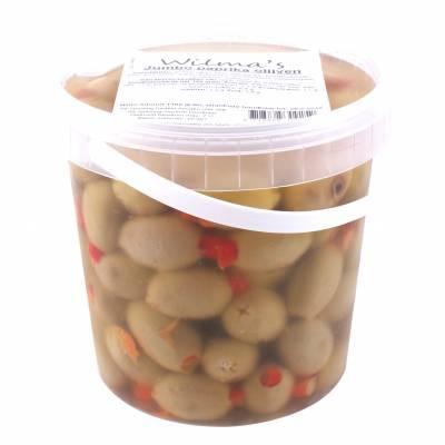 18103 - Wilma's Olijven jumbo paprika olijven 1100 gram