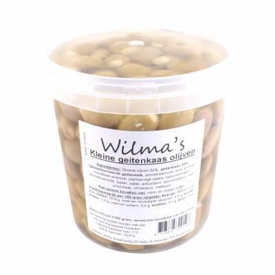 18108 - Wilma's Olijven kleine geitenkaas olijven 1100 gram