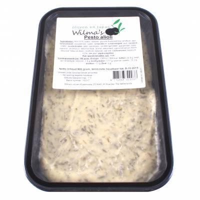 18157 - Wilma's Olijven pesto alioli 800 gram