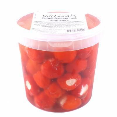 18180 - Wilma's Olijven peppersweet's met roomkaas 1100 gram