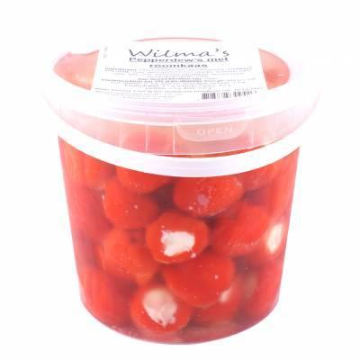 18181 - Wilma's Olijven pepperdew's met roomkaas 1100 gram