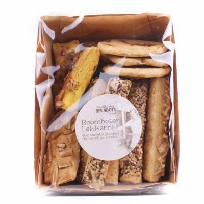 19684 - Des Noots roomboter lekkernij kaasvlinders/kaasste 120 gram