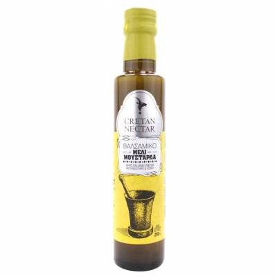 1981 - Cretan Nectar white balsamic vinegar with honey & mustard 250 ml