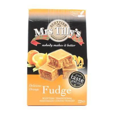 20802 - Mrs Tilly's orange fudge gift box 150 gram