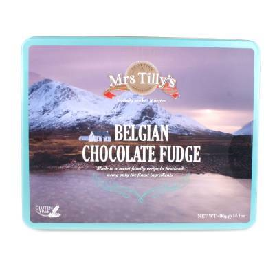 20806 - Mrs Tilly's chocolate fudge gift tin 400 gram