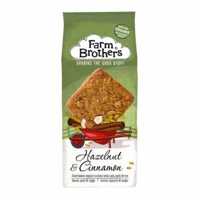 21000 - Farm Brothers hazelnut & cinnamon cookies 150 gram