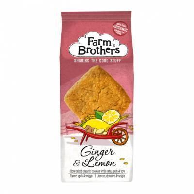 21010 - Farm Brothers ginger & lemon cookies 150 gram
