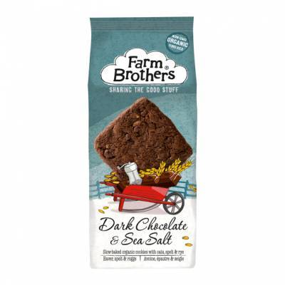 21020 - Farm Brothers chocolate & sea salt cookies 150 gram