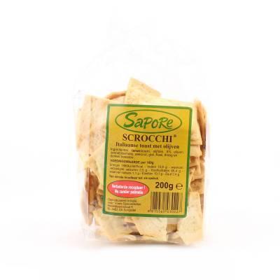 2345 - Sapore scrocchi met olijven 200 gr 200 gram