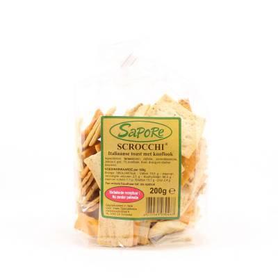 2348 - Sapore scrocchi met knoflook 200 gr 200 gram