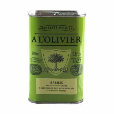 2941 - A l'Olivier olijfolie extra vergine basilicum 1822 250 ml