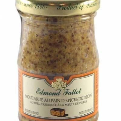 8264 - Edmond Fallot mosterd fijn met peperkoek & honing 105 gram