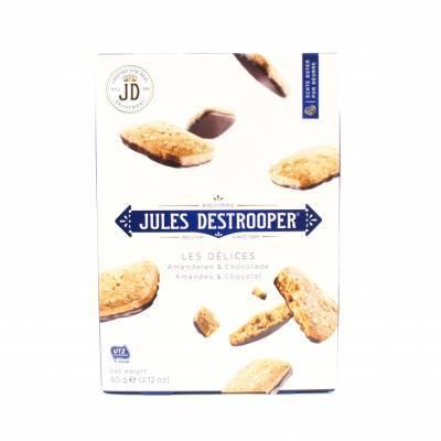 4674 - Jules deStrooper delices amandelen & chocolade 60 gram