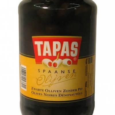 7999 - Tapas olijven zwart zonder pit 900 gram