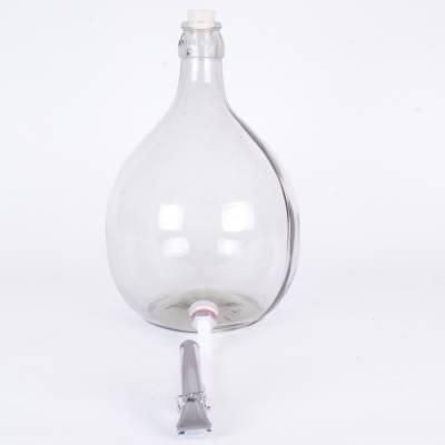 5552 - Wajos glasballon 5 liter + kurk,slang, en klem 1 stuk