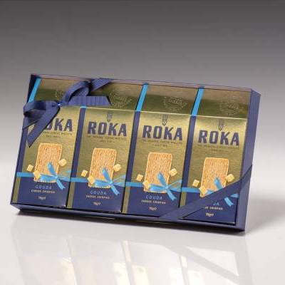 6569 - Roka giftbox cheese crispies gouda (gold) 280 gram