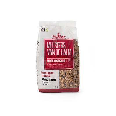 6620 - De Halm krokante muesli met rozijnen 600 gram