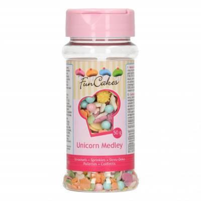 6870 - FunCakes sprinkle medley - pastel unicorn 50 gr