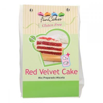 6873 - FunCakes mix voor red velvet cake glutenvrij 400 gr