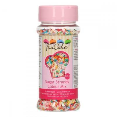 6884 - FunCakes sugar strands colour mix 80 gr