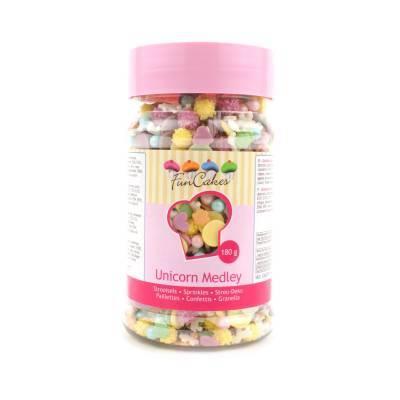 6902 - Cake Supplies Sprinkle Madley Unicorn 180 gram