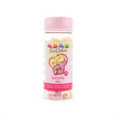 6908 - Cake Supplies Vlinder Mix 50 gram