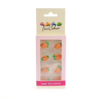6920 - Cake Supplies Suikerdecoratie Wortelen 16 stuks