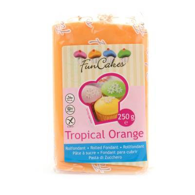 6930 - Cake Supplies Rolfondant Tropical Orange 250 gram