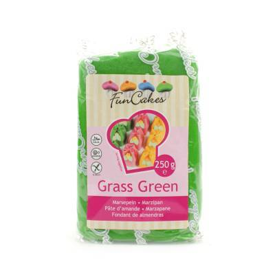 6936 - Cake Supplies Marsepein Grass Green 250 gram