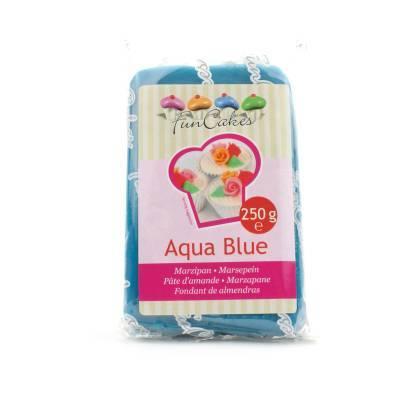 6938 - Cake Supplies Marsepein Aqua Blue 250 gram