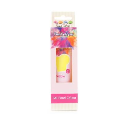 6941 - Cake Supplies FunColours Gel Yellow 30 gram