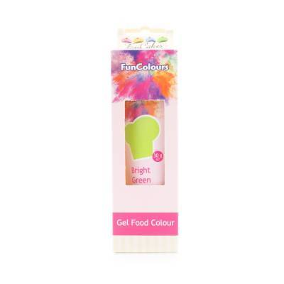 6943 - Cake Supplies FunColours Gel Bright Green 30 gram